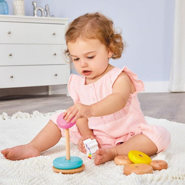 Wooden Criters Shape Stackers Developmental Toys With Girl