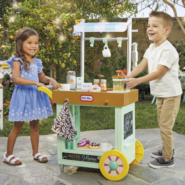 Realistic Pretend play cafe cart for Preschoolers